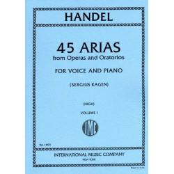 Partition Haendel 45 arias voix élevee IMC1693 Le kiosque à musique avignon