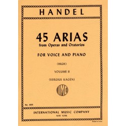 Partition Haendel 45 Arias voix élevée IMC1695 Le kiosque à musique Avignon