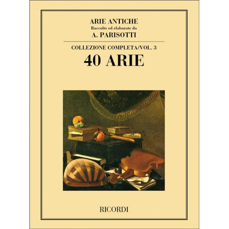 Partition Chant et piano Arie Antiche Parisotti NR101918 Le kiosque à musique Avignon