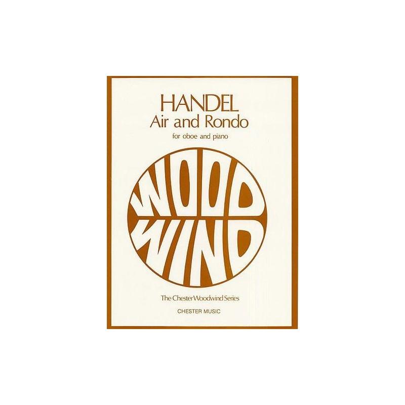Partition hautbois Haendel Air et Rondo CH01572 Le kiosque à musique Avignon