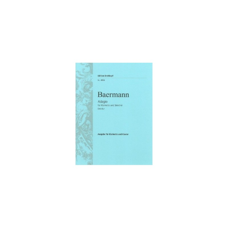 Partition clarinette Adagio de Baermann EB4884 Le kiosque à musique Avignon