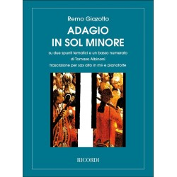 Partition saxophone Adagio d'Albinoni NR131520 Le kiosque à musique Avignon