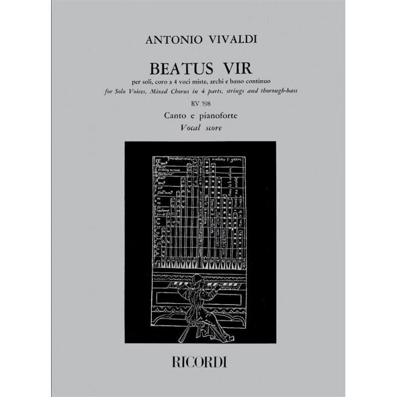 Partition Vivaldi Beatus Vir RV598 NR131656 Le kiosque à musique Avignon