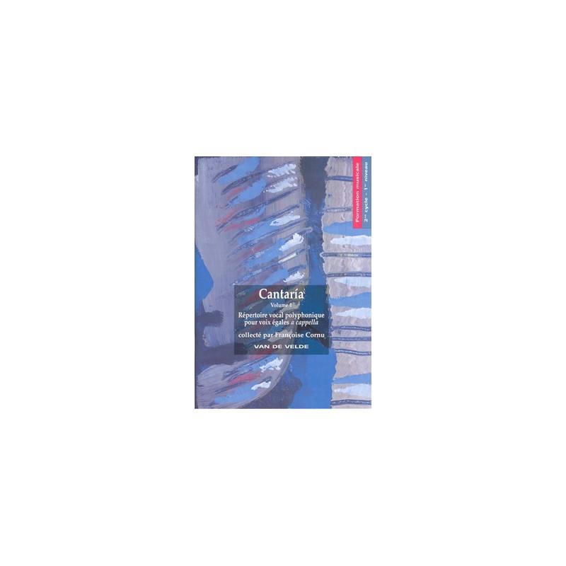 Partition Cantaria volume 1 VV227 Le kiosque à musique Avignon