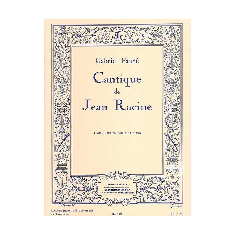 Partition Cantique de Jean Racine HA9065 Le kiosque à musique Avignon