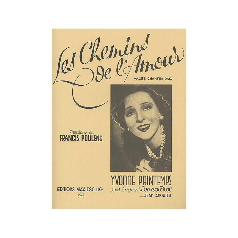 Partition Poulenc Les Chemins de l'amour ME622201 Le kiosque à musique Avignon