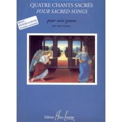 Partition Jacqueline Bonnardot 4 Chants Sacrés HL26565 Le kiosque à musique Avignon