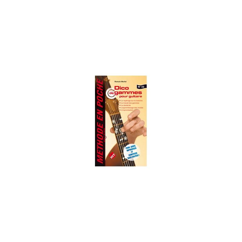 Partition guitare Dico de gammes poche HIT18520 Le kiosque à musique Avignon