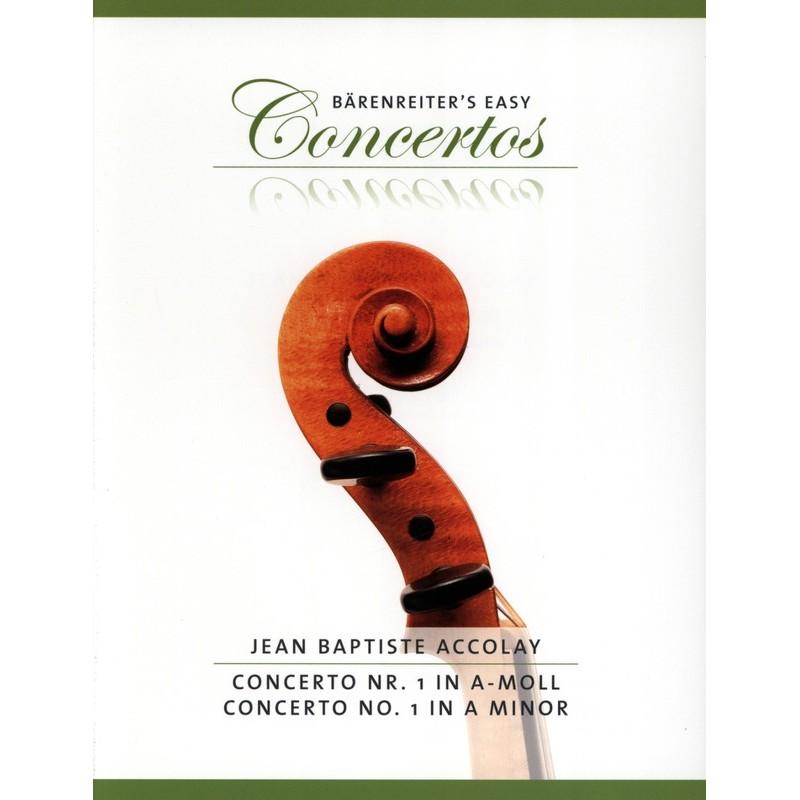 Partition violon Accolay Concerto n°1 la mineur BA8976 Le kiosque à musique