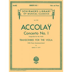 Partition alto Accolay Concerto n°1 HL50261720 le kiosque à musique Avignon