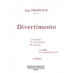 Partition DIvertimento pour cor de Jean Françaix ETR000570 Le kiosque à musique Avignon