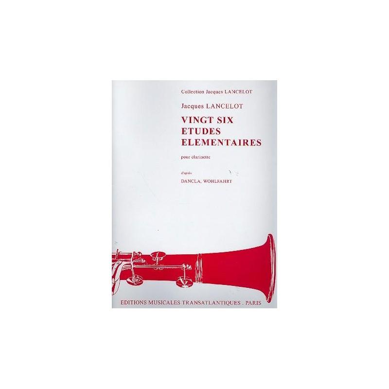 Jacques Lancelot 26 Etudes pour clarinette ETR001000 le kiosque à musique Avignon