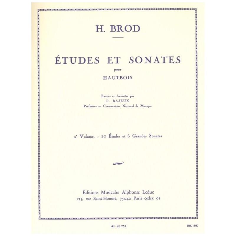 Etudes et sonates de Brod AL20753 Le kiosque à musique