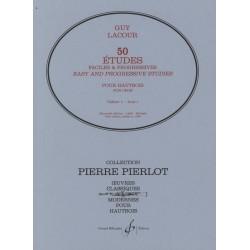 50 Etudes faciles et progressives pour hautbois G15493B Le kiosque à musique Avignon