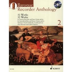 Partition Baroque Recorder anthology ED13135 le kiosque à musique Avignon
