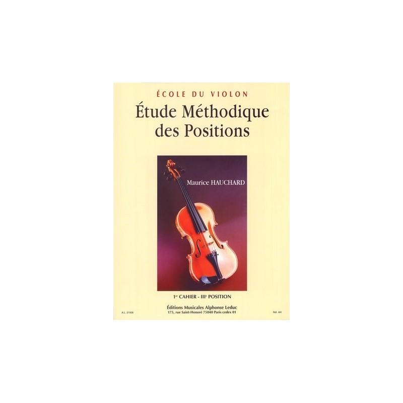 PARTITION VIOLON HAUCHARD CAHIER 1 AL21006 LE KIOSQUE A MUSIQUE