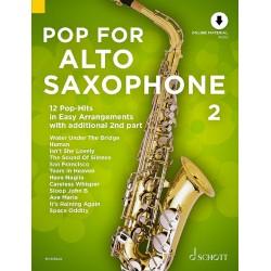 Partition Pop for Alto saxophone volume 2 ED22574 le kisoque à musique