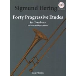 Sigmund Hering 40 Progressive etudes for trombone CV04441X le kiosque à musique Avignon