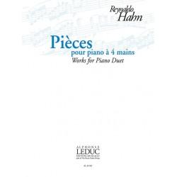 Reynaldo Hahn Pièces pour piano à 4 mains AL30769 le kiosque à musique