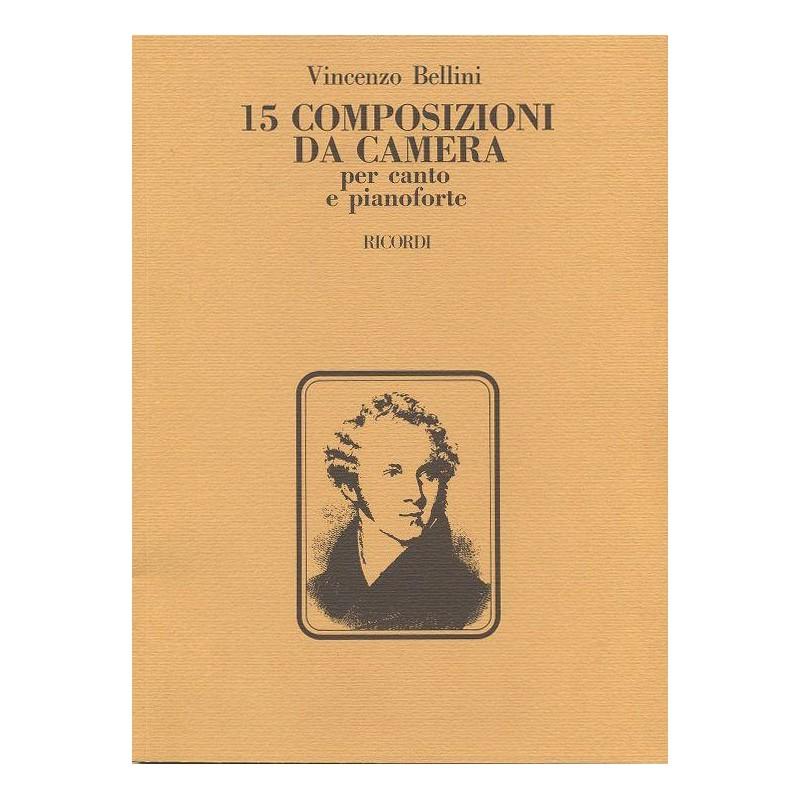 Partition Bellini 15Composizioni da camera NR123282 le kiosque à musique Avignon