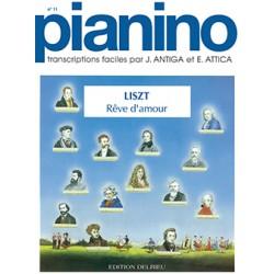 Partition piano Pianino Liszt Reve d'amour Le kiosque à musique Avignon