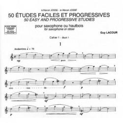 ETUDES FACILES ET PROGRESSIVES (50) - VOL1