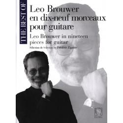 Léo Brouwer en 19 morceaux pour guitare DF16028 le kiosque à musique Avignon