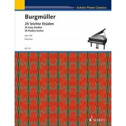 PARTITION PIANO ETUDES OPUS 100 DE BURGMULLER LE KIOSQUE A MUSIQUE