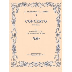Partition saxophone Concerto Glazounov AL19256 Le kiosque à musique Avignon