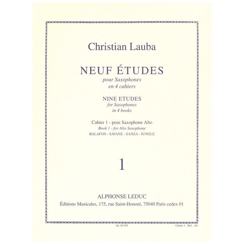 9 Etudes de Christian Lauba Al29035 le kiosque à musique Avignon