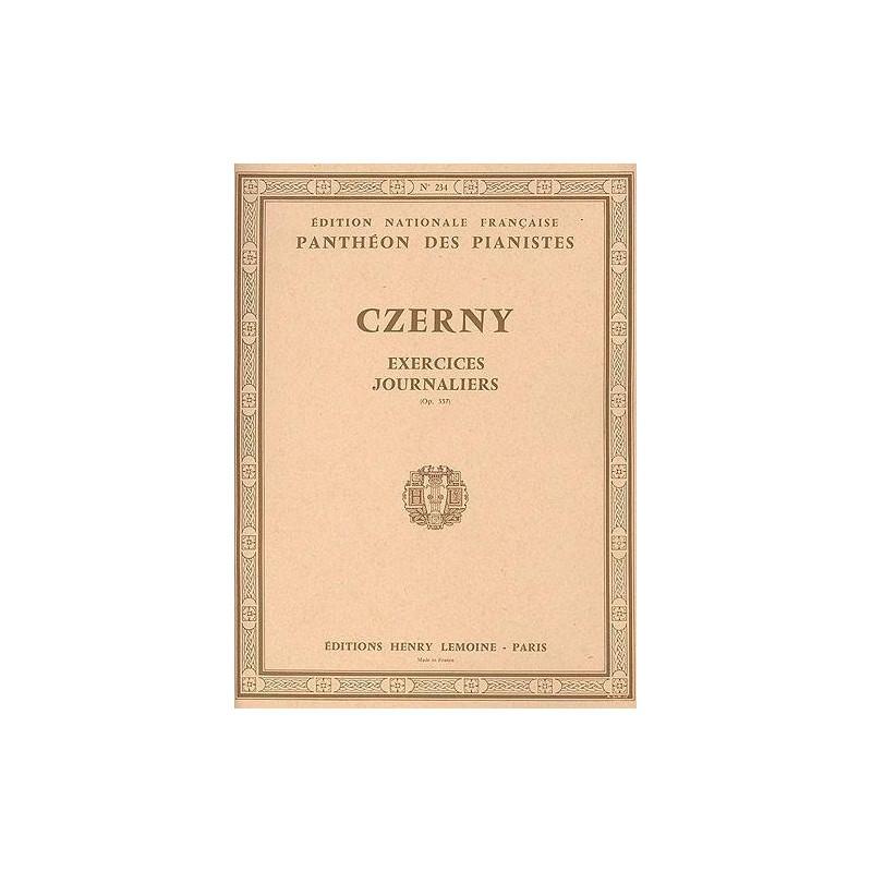 Czerny 40 exercices journaliers opus 337 HLP234 - le kiosque à musique Avignon