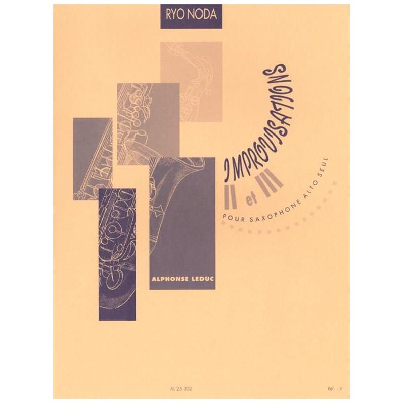 Ryo Noda Improvisations 2 et 3 saxophone Al25302 le kiosque à musique Avignon