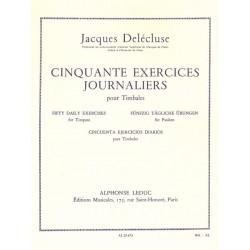 Jacques Delecluse 50 exercices journaliers pour timbale AL25673 le kiosque à musique Avignon
