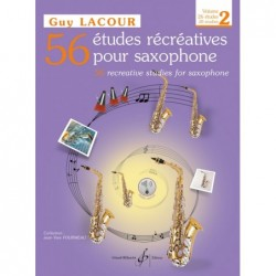 GUY LACOUR 56 ETUDES RECREATIVES volume 2 SAXOPHONE ALTO