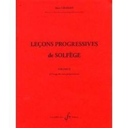 Alain Grimoin Leçons progressives de solfege