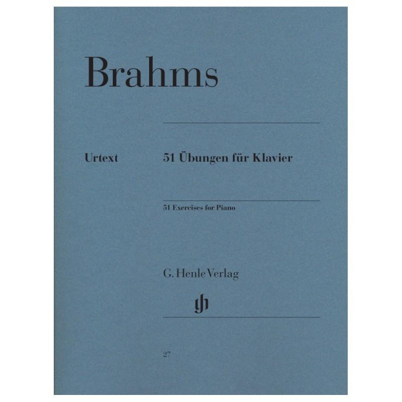 Brahms 51  Exercices piano HN27  le kiosque à musique Avignon