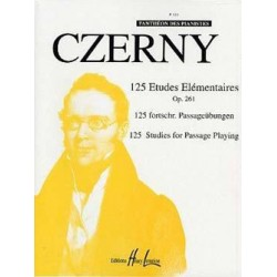 Czerny 125 études élémentaires HLP616 le kiosque à musique Avignon