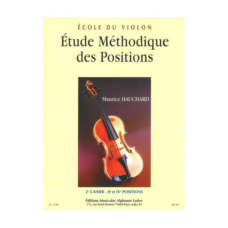 Hauchard Etude méthodique des positions AL21007 le kiosque à musique Avignon