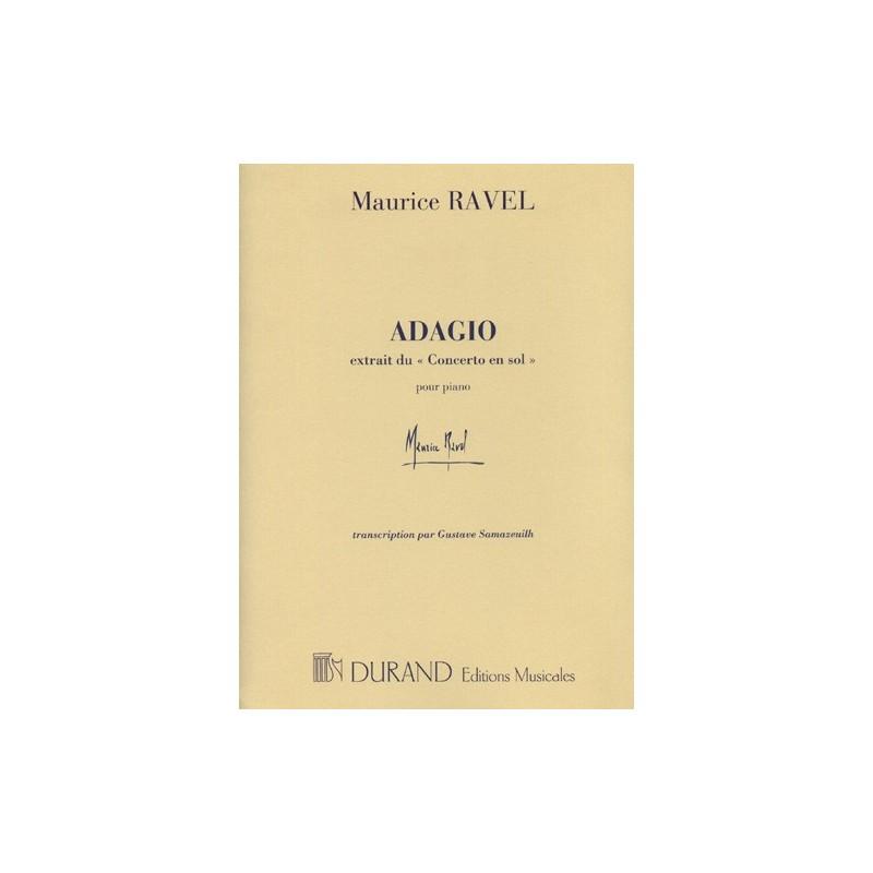 Partition Adagio du Concerto en Sol - Kiosque musique Avignon