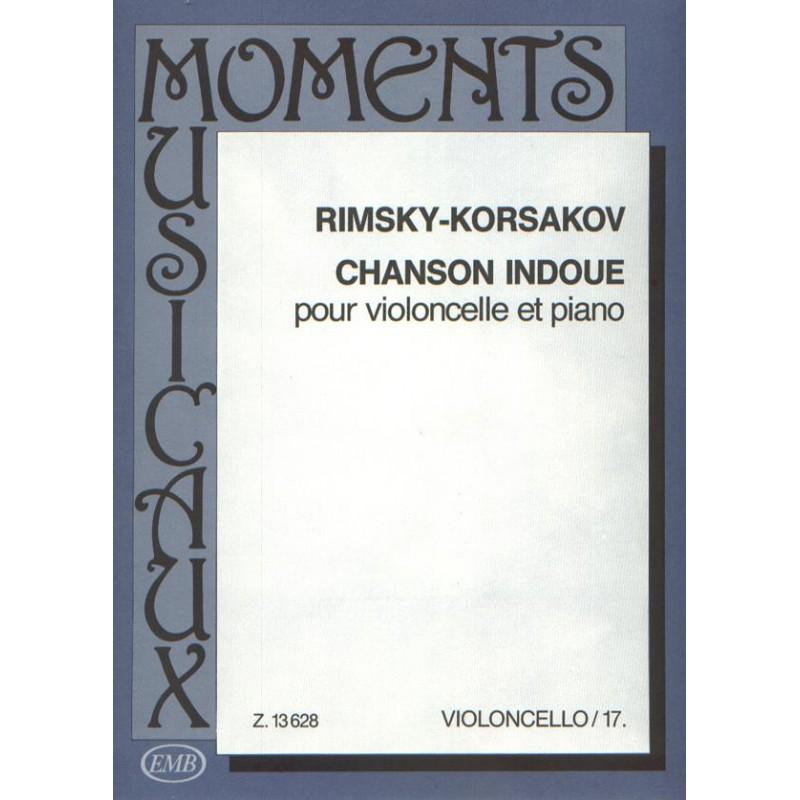 Chanson Indoue partition violoncelle EMB13628 le kiosque à musique Avignon