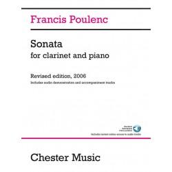Partition Poulenc sonate clarinette CH83556 le kiosque à musique Avignon