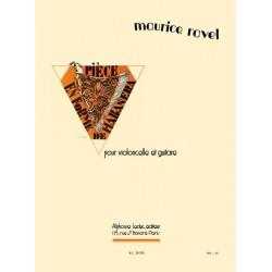 Partition Ravel Pièce en forme de Habanera violoncelle et guitare AL29376 le kiosque à musique avignon