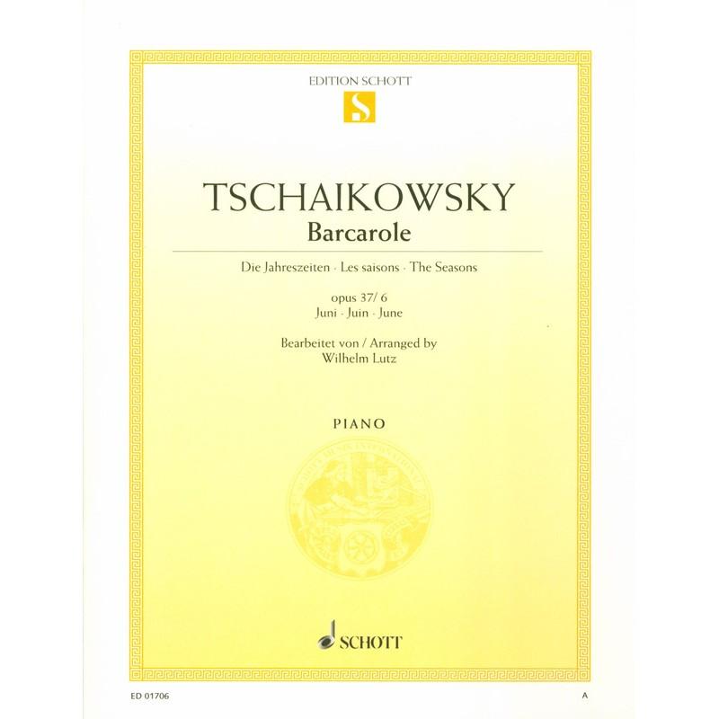 Partition Tchaikowsky Juin piano ED01706 Le kiosque à musique Avignon