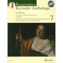 Renaissance recorder anthology 2 ED13592 le kiosque à musique Avignon