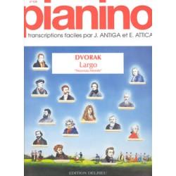 Partition Largo Symphonie du Nouveau Monde PIANO FACILE Avignon Le kiosque à musique Avignon