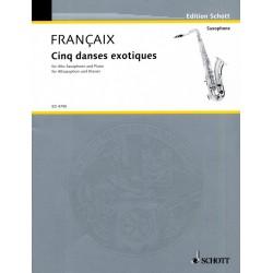 Partition Danses Exotiques de Jean Françaix Avignon Le kiosque à musique