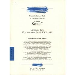 BACH Largo BWV 1056 Arrangement de Kempff Le kiosque à musique Avignon