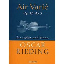 Partition violon Air Varié de Rieding BOE004654 Le kiosque à musique Avignon