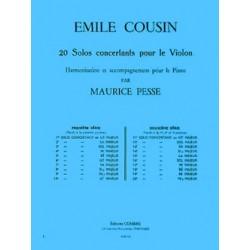 PARTITION EMILE COUSIN SOLO CONCERTANT N°4 Le kiosque à musique Avignon