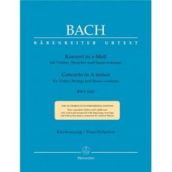Partition BACH Concerto violon en la mineur BA5189A Le kiosque à musique Avignon